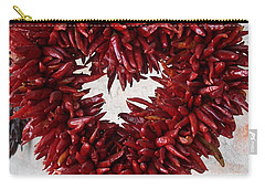 Carry-all Pouch featuring the photograph Chili Pepper Heart by Kerri Mortenson