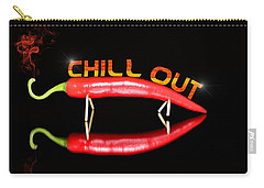 Chilli Pepper And Text Chill Out Carry-all Pouch