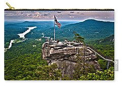 Carry-all Pouch featuring the photograph Chimney Rock At Lake Lure by Alex Grichenko