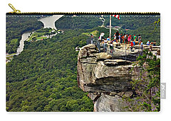 Carry-all Pouch featuring the photograph Chimney Rock Overlook by Alex Grichenko