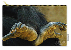Carry-all Pouch featuring the photograph Chimpanzee Feet by Clare Bevan