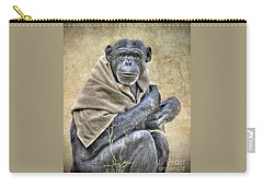 Carry-all Pouch featuring the photograph Chimpanzee by Savannah Gibbs