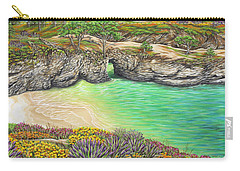 Carry-all Pouch featuring the painting China Cove Paradise by Jane Girardot