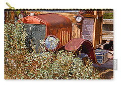 Carry-all Pouch featuring the photograph China Ranch Truck by Jerry Fornarotto