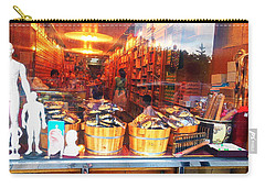 Carry-all Pouch featuring the photograph Chinatown Nyc Herb Shop by Joan Reese