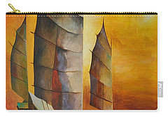 Chinese Junk In Ochre Carry-all Pouch