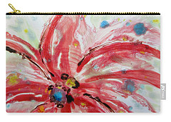 Carry-all Pouch featuring the painting Chinese Red Flower by Joan Reese