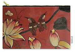Chinese Red Lacquer Chest Detail Carry-all Pouch