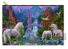 Chinese Unicorns Carry-all Pouch by Jan Patrik Krasny