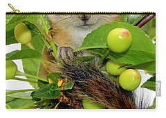Carry-all Pouch featuring the photograph Chip Or Dale by Barbara Chichester