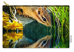 Chipmunk Reflection Carry-all Pouch by Bob Orsillo