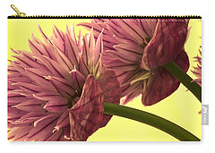 Chive Macro Beauty Carry-all Pouch by Sandra Foster
