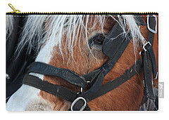 Carry-all Pouch featuring the photograph Chomping On The Bit by Alyce Taylor