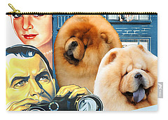 Chow Chow Art Canvas Print - Rear Window Movie Poster Carry-all Pouch