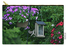 Carry-all Pouch featuring the photograph Chow Time For This Bird by Thomas Woolworth