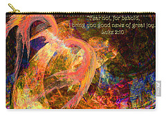 Christmas Angel Carry-all Pouch by Stephanie Grant