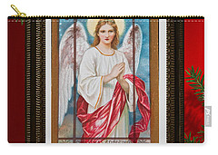 Carry-all Pouch featuring the digital art Christmas Angel Art Prints Or Cards by Valerie Garner