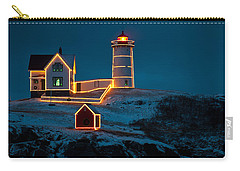 Christmas At Nubble Light Carry-all Pouch