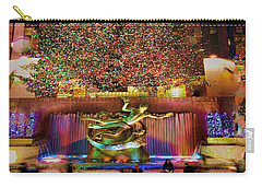 Carry-all Pouch featuring the photograph Christmas At The Rock by Chris Lord