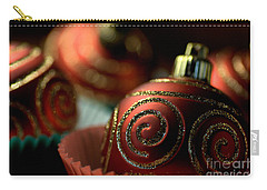 Christmas Bauble Cupcakes Carry-all Pouch by Joy Watson