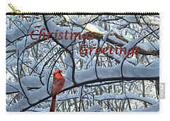Carry-all Pouch featuring the photograph Christmas Card - Christmas Greeting by Larry Bishop