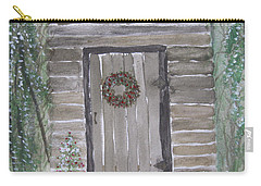 Christmas Card No.3 Rustic Cabin Carry-all Pouch