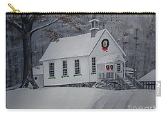 Christmas Card - Snow - Gates Chapel Carry-all Pouch