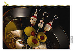 Christmas Crowded Martini Carry-all Pouch