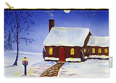 Carry-all Pouch featuring the painting Christmas Eve by Lee Piper