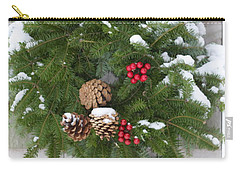 Christmas Evergreen Wreath Carry-all Pouch