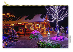 Christmas Fantasy Lodge And Tree Lights Carry-all Pouch