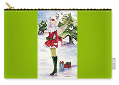 Carry-all Pouch featuring the painting Christmas Fantasy  by Nadine Dennis