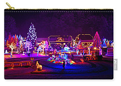 Christmas Fantasy Trees And Houses In Lights Carry-all Pouch