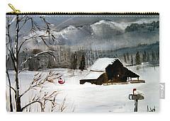 Christmas Farm House Carry-all Pouch