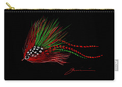 Carry-all Pouch featuring the painting Christmas Fly by Jean Pacheco Ravinski