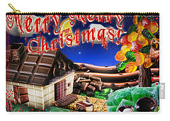 Christmas Greeting Card Iv Carry-all Pouch by Alessandro Della Pietra