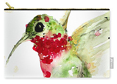Christmas Hummer Carry-all Pouch by Dawn Derman