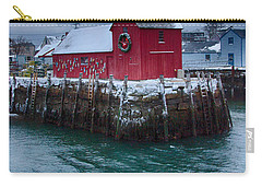 Christmas In Rockport Massachusetts Carry-all Pouch