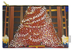 Carry-all Pouch featuring the painting Christmas In The City by Donna Blossom