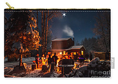 Christmas In The Woods Carry-all Pouch