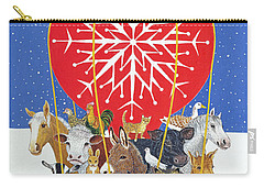 Christmas Journey Oil On Canvas Carry-all Pouch by Pat Scott