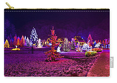 Christmas Lights In Town Park - Fantasy Colors Carry-all Pouch