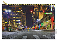 Christmas On Woodward Carry-all Pouch by Nicholas  Grunas