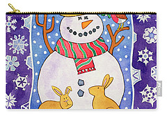 Christmas Snowflakes Carry-all Pouch by Cathy Baxter