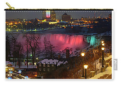 Christmas Spirit At Niagara Falls - Holiday Card Carry-all Pouch