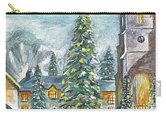 Christmas Spirit Carry-all Pouch by Teresa White