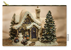 Carry-all Pouch featuring the photograph Christmas Toy Village by Alex Grichenko