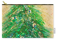Christmas Tree Gold By Jrr Carry-all Pouch by First Star Art