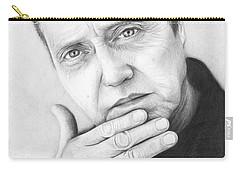 Christopher Walken Carry-all Pouch by Olga Shvartsur