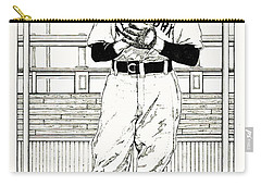 Carry-all Pouch featuring the drawing Christy Mathewson by Ira Shander